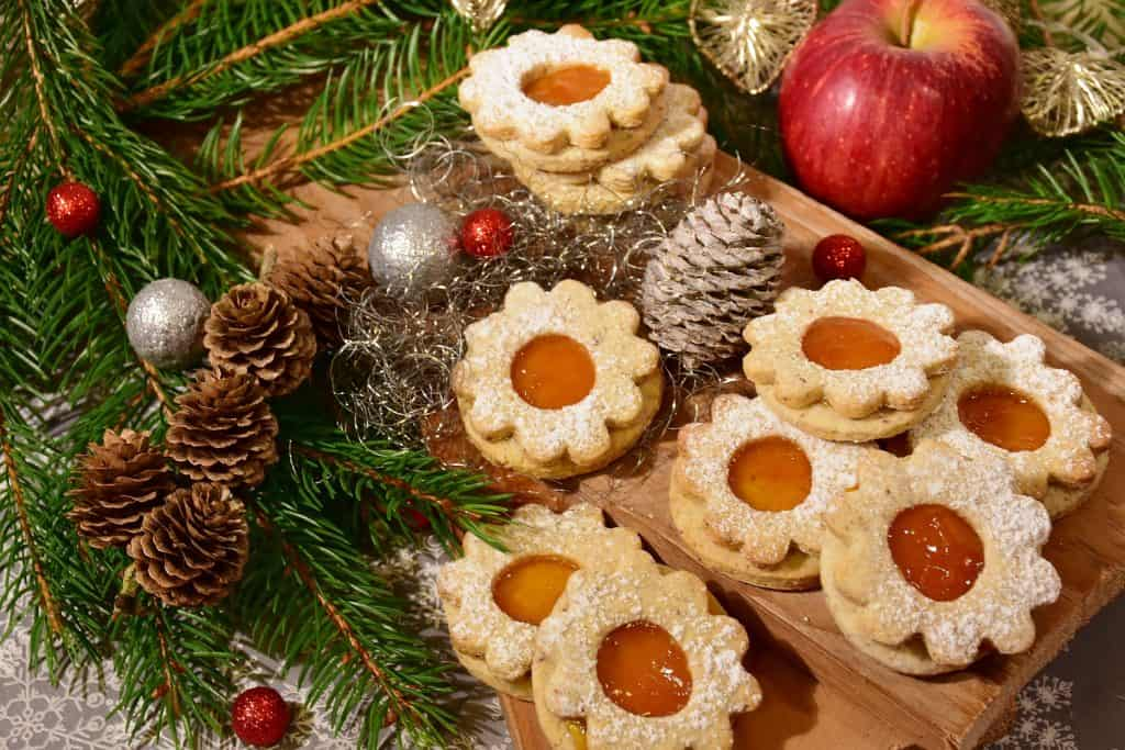 Canva Christmas Cookies With Decorative Background