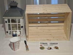 pine Crate Craft Basket