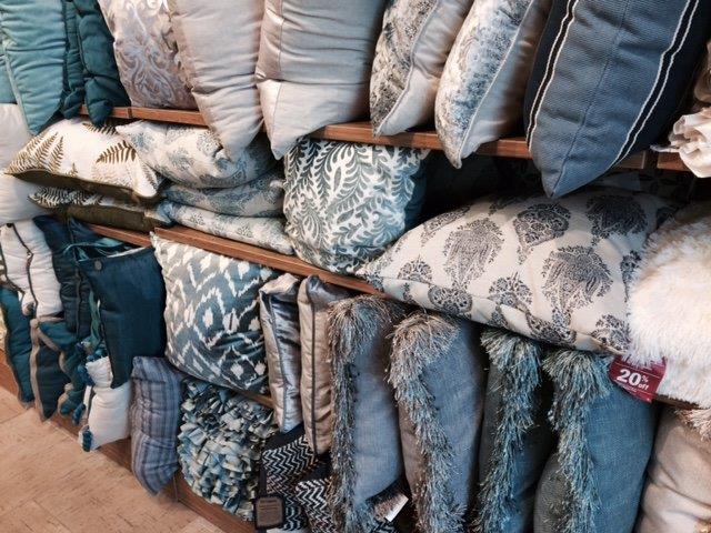 teal pillow display 2