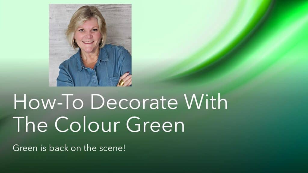 how to decorate with the color green