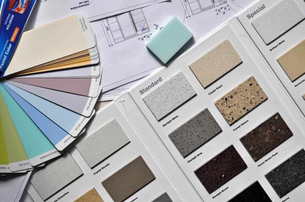Canva Color Palette and Samplers for Home Interior
